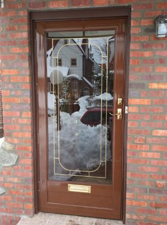 Storm Door Screen Door Quality Full View Cross Buck