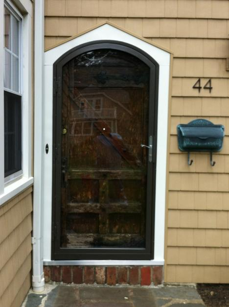 fullview eyebrow door, storm door