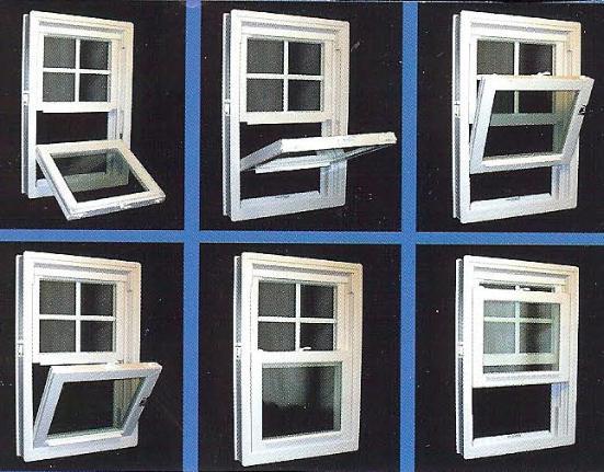 Welded Vinyl Double Hung Low E Glass Argon Gas Tilt In