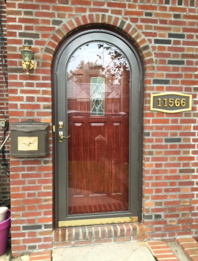 Attirant Entrance Door With Security Storm Door With Glass And Screen.