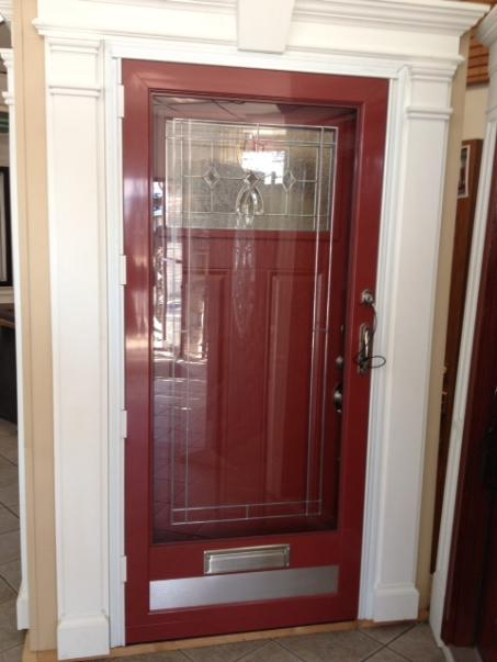 Storm Door Screen Door Self Storing Powdercoat Custom